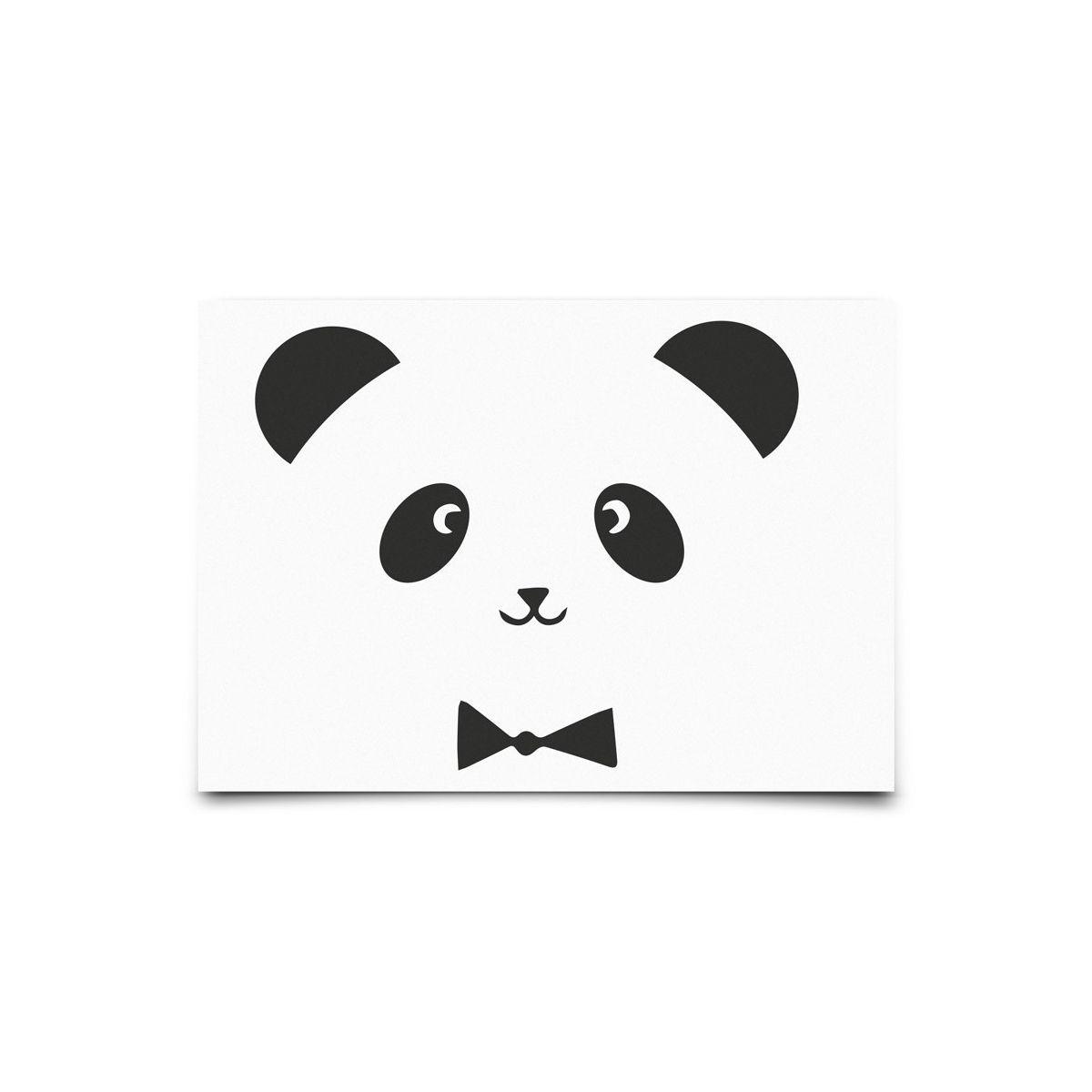 Kartka Monochrome Animals Panda - Eef Lillemor