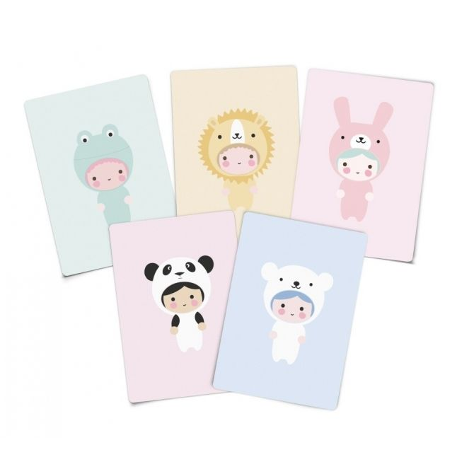Set of invitations Little Animals - Eef Lillemor