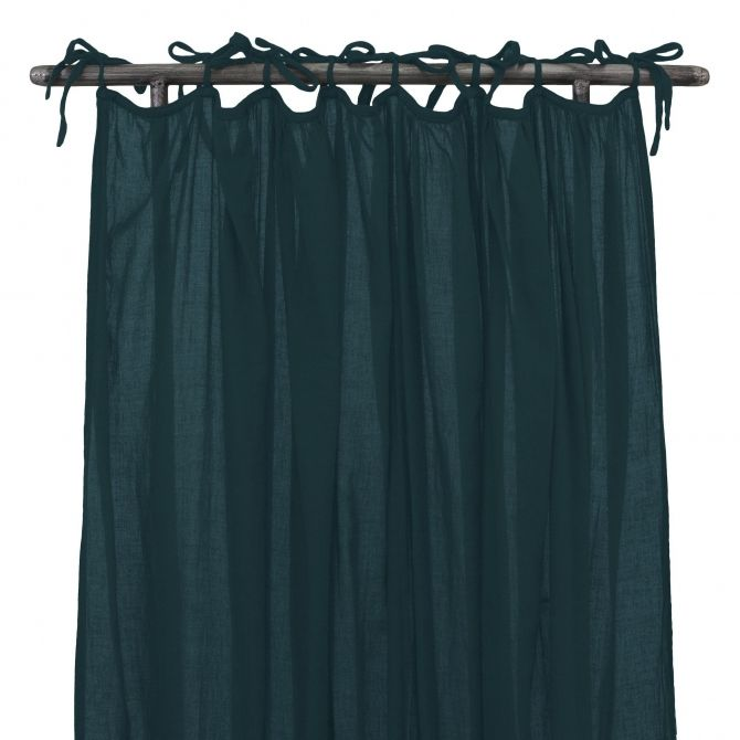 Gathered Curtain teal blue - Numero 74