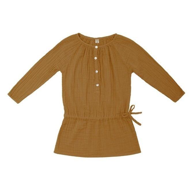 Sukienka dziecięca Naia musztardowa - Numero 74