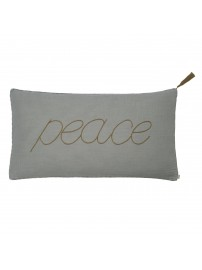 Cushion Message silver grey - Numero 74