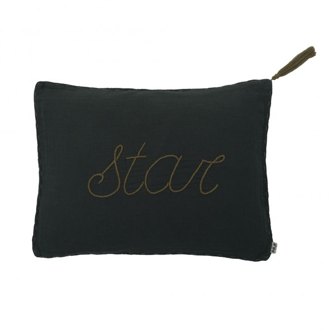 Cushion Message flashy dark grey - Numero 74