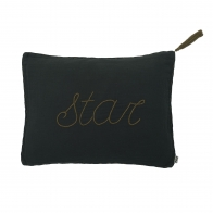 Cushion Message dark grey