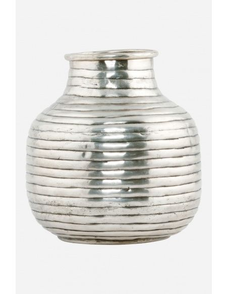 House Doctor - Vase Vertical silver small - 1