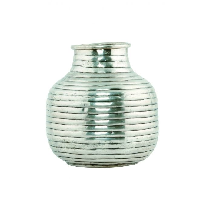 Vase Vertical silver small - House Doctor