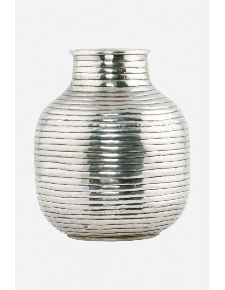House Doctor - Vase Vertical silver medium - 1