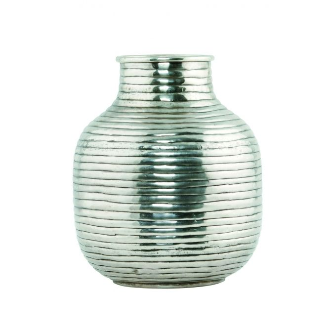 Vase Vertical silver medium - House Doctor