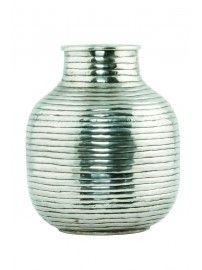 House Doctor - Vase Vertical silver medium - 2