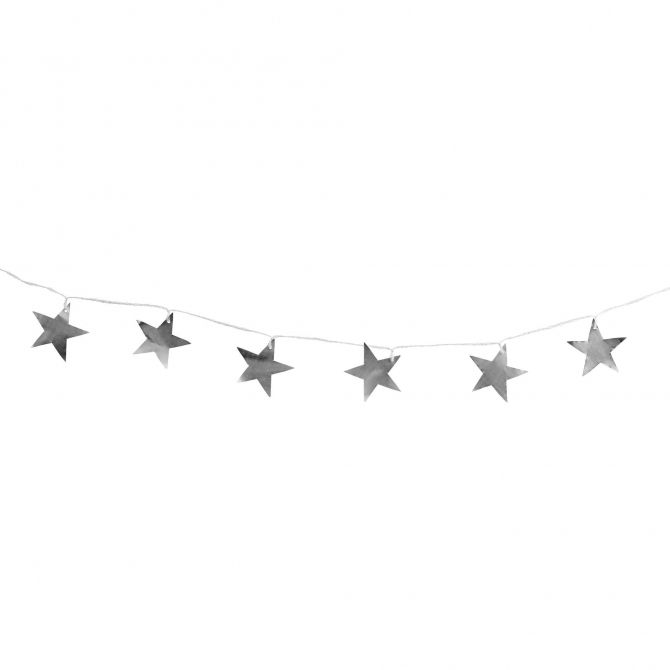 Girlanda Christmas string metal stars srebrna - Tine K home