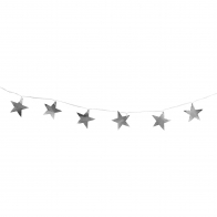 Girlanda Christmas string metal stars silver