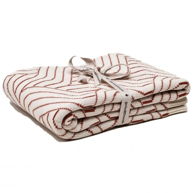 Garbo & Friends Strada Rust Cotton Blanket red