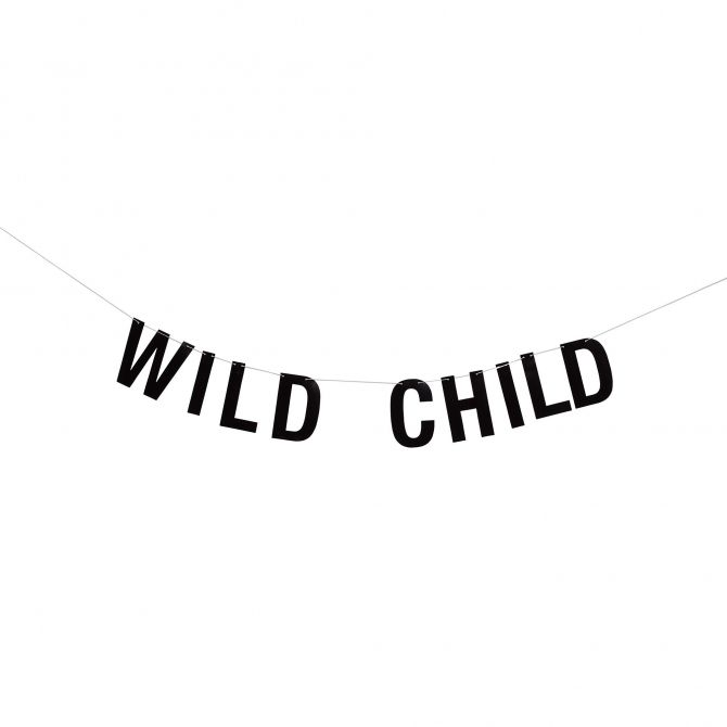 Bloomingville Girlanda Wild Child czarna papierowa
