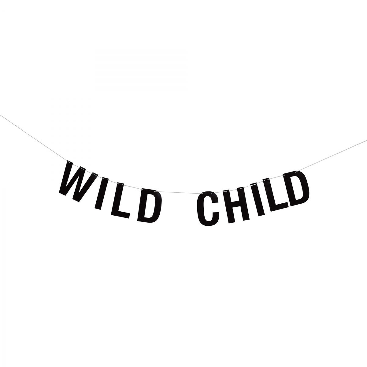 Garland Wild Child black paper - Bloomingville