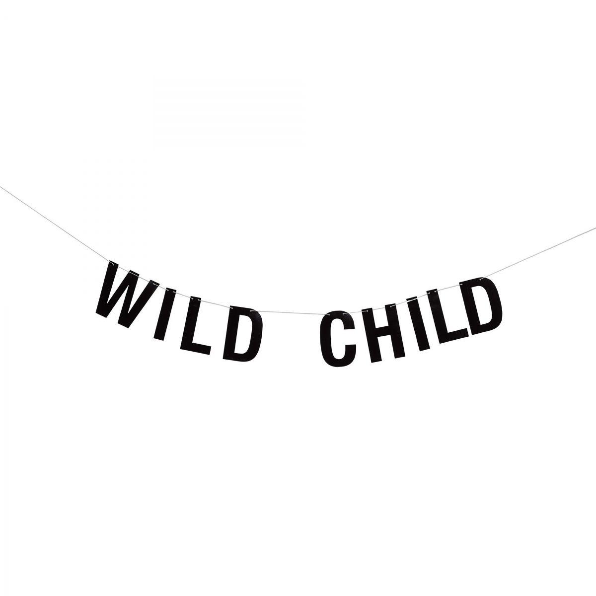 Girlanda Wild Child czarna papierowa - Bloomingville