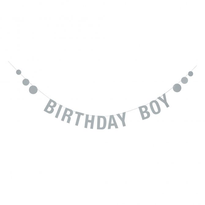 Bloomingville Garland Birthday Boy blue paper