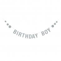 Garland Birthday Boy blue paper