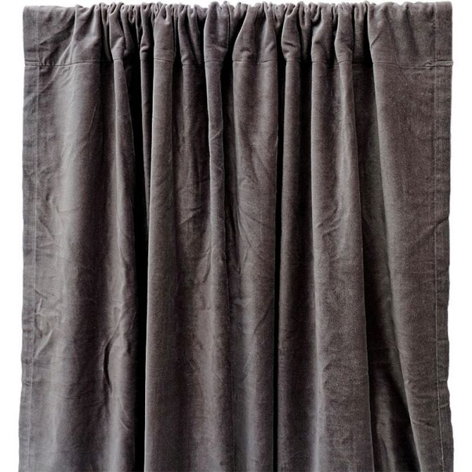 Curtain velvet grey - liv interior