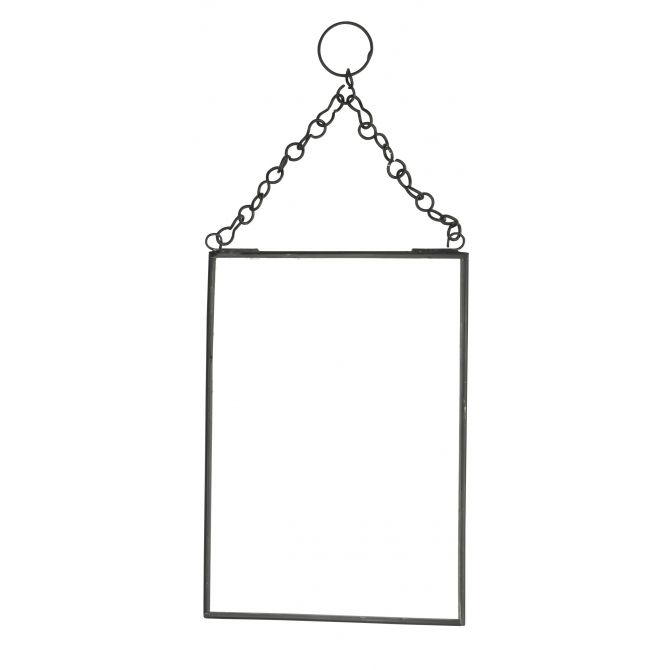 Madam Stoltz Hanging mirror black