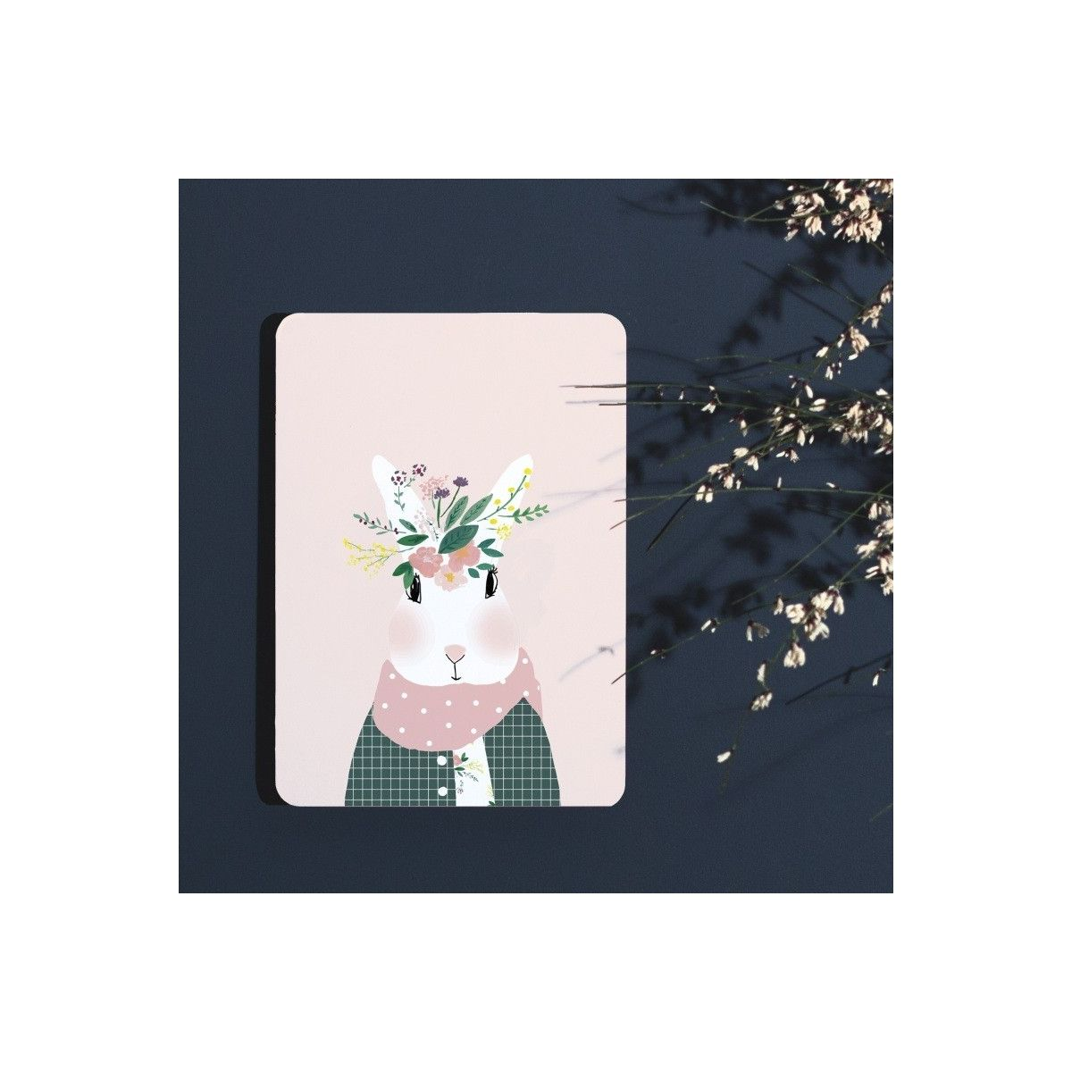 Postcard Josephine aux fleurs - My Lovely Thing