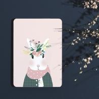 Postcard Josephine aux fleurs