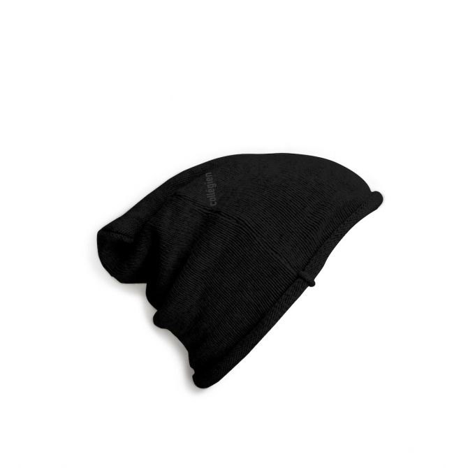 Collégien Czapka Bonnet Noir Intense czarna