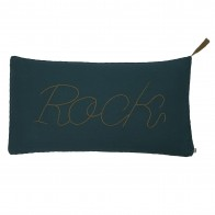 Cushion Message teal blue