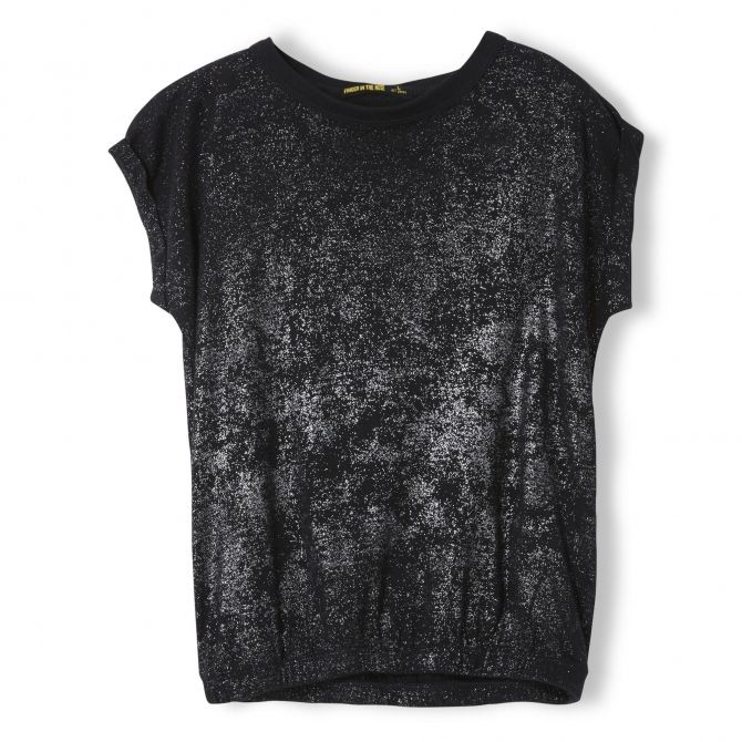 Barrington Black Hologram Sleeveless T-shirt - Finger in the