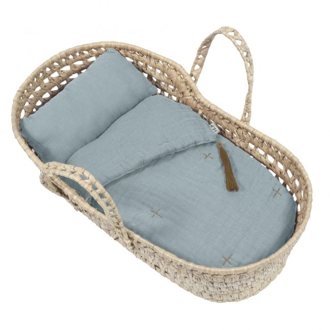 Doll Basket Bed Linen sweet blue - Numero 74