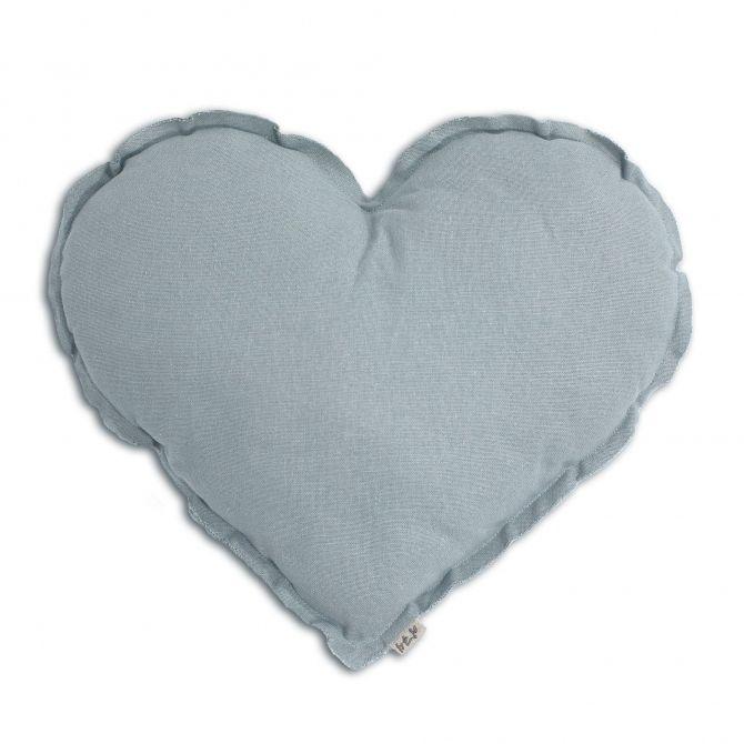 Poduszka Serce zgaszony błękit - Numero 74