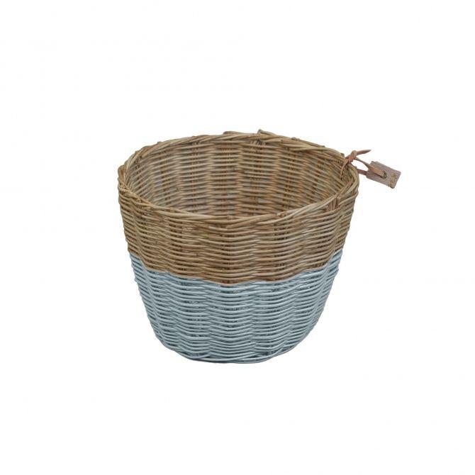 Koszyk rattanowy zgaszony błękit - Numero 74
