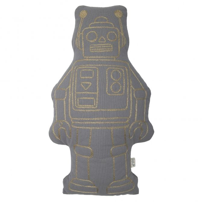 Robot Cushion stone grey - Numero 74