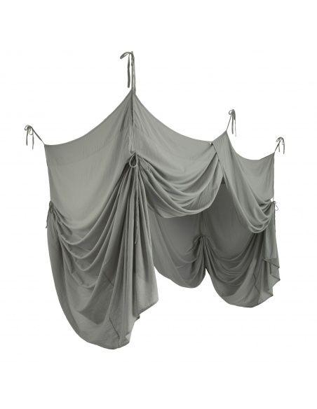 Numero 74 Baldachim nad łóżko srebrnoszary