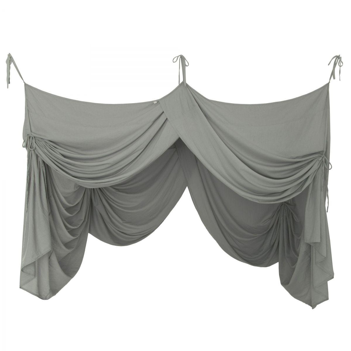 Numero 74 Bed Canopy Drape silver grey