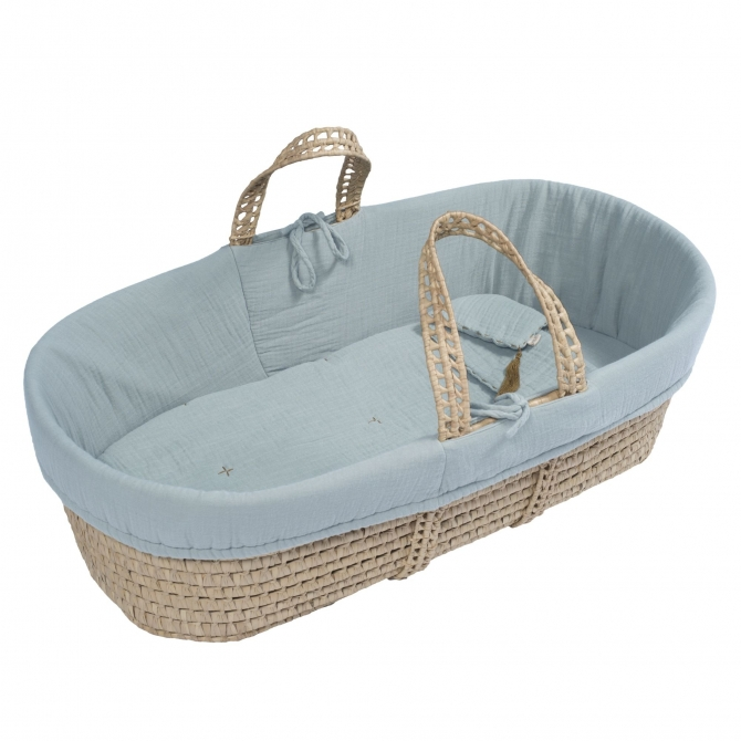 Numero 74 Moses Basket Bed Linen sweet blue