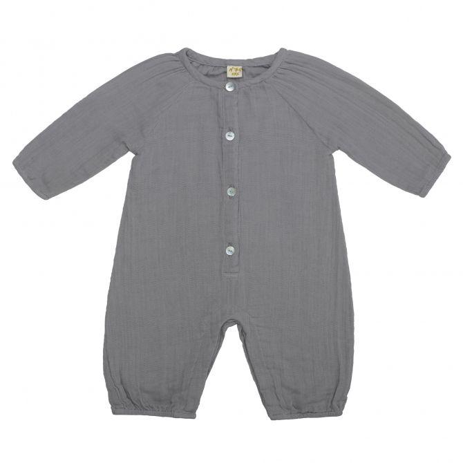 Pajac niemowlęcy Leni kamienny szary - Numero 74