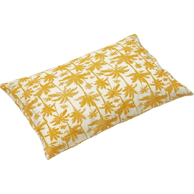 liv interior Cushion cover Palm yellow