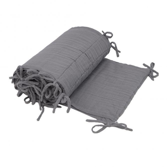Ochraniacz do łóżeczka kamienny szary - Numero 74