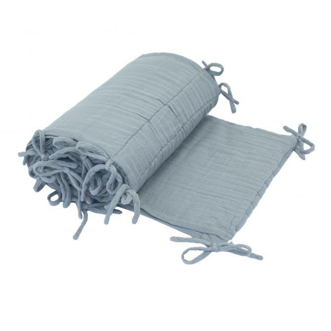 Ochraniacz do łóżeczka zgaszony błękit Numero 74 Dekoracje