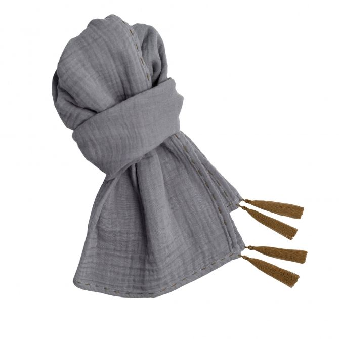 Numero 74 Scarf Kid stone grey