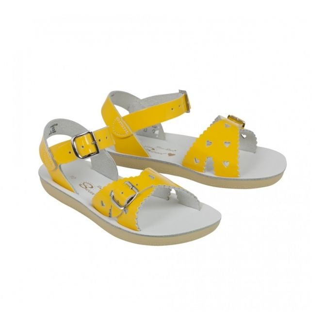 Salt Water Sandals Sweetheart Premium Shiny yellow