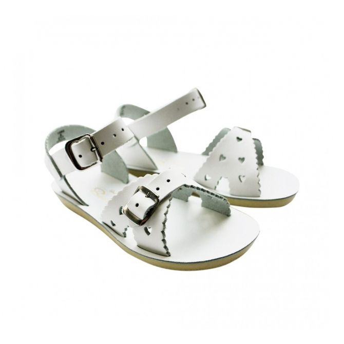 Salt Water Sandals Sweetheart white