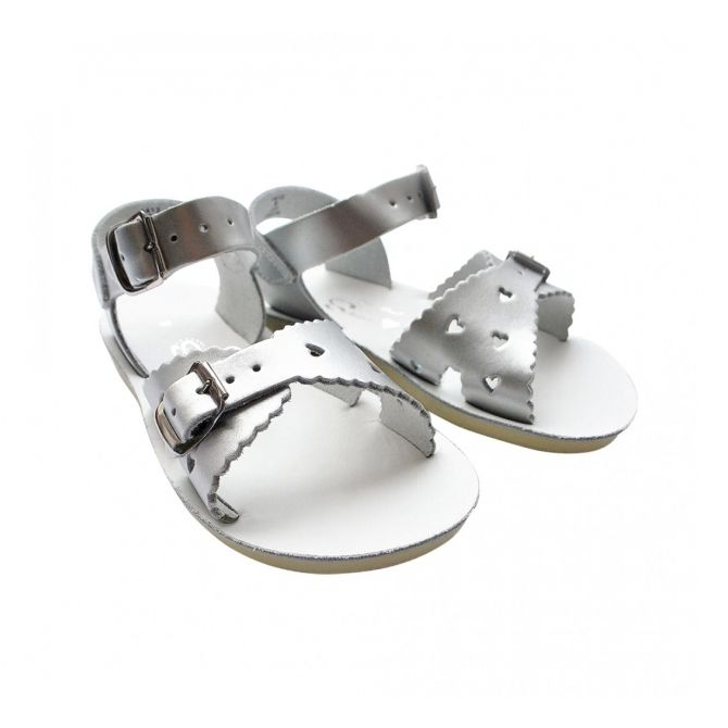 Salt Water Sandals Sweetheart Premium silver
