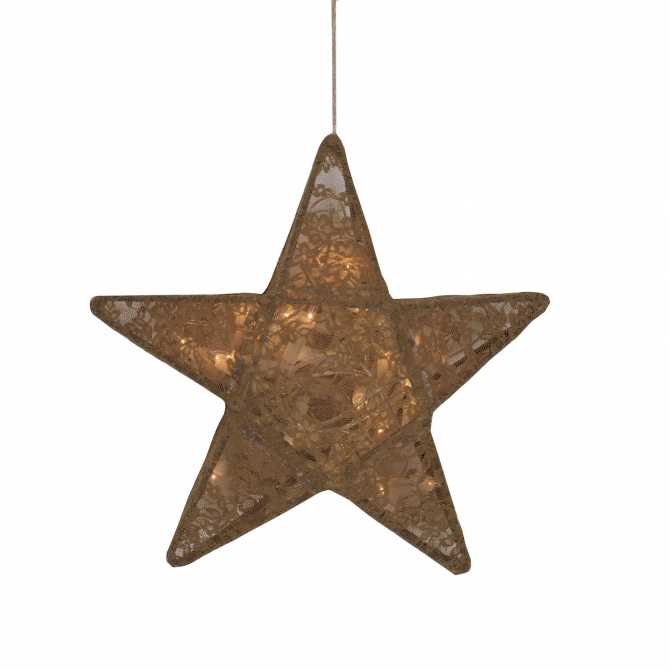 Lampa Gwiazda koronka w kwiaty musztardowa - Numero 74