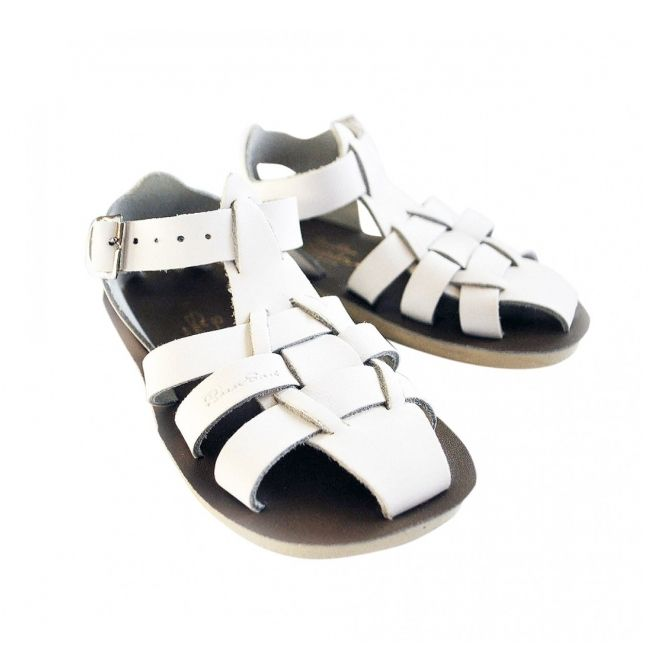Salt Water Sandals Shark white