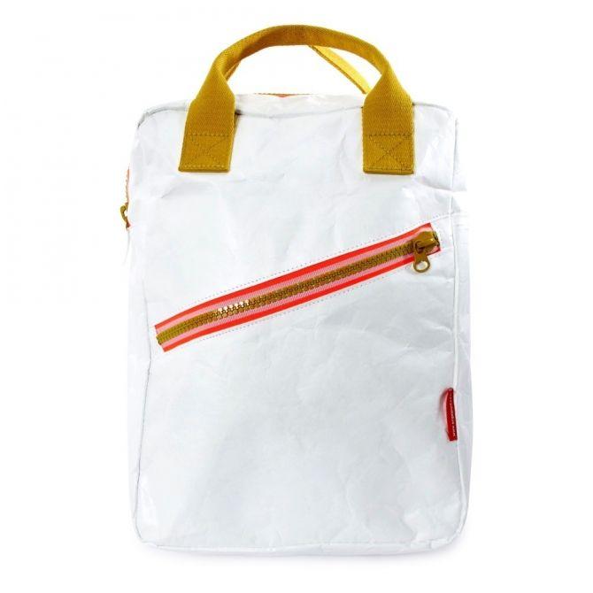 Plecak Zipper Tyvek biały - Engel.