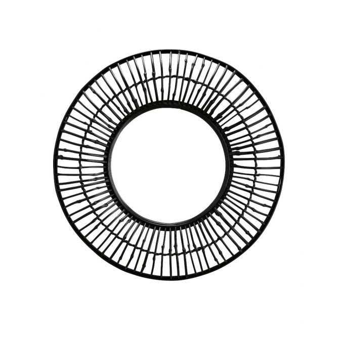 Lustro okrągłe z bambusową ramką 80cm - Madam Stoltz