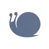 Podkładka pod talerz ślimak niebieska