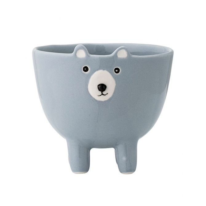 Bloomingville Jar stoneware Bear Blue
