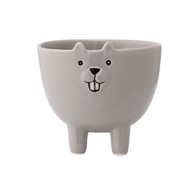 Jar stoneware Bear Grey - Bloomingville