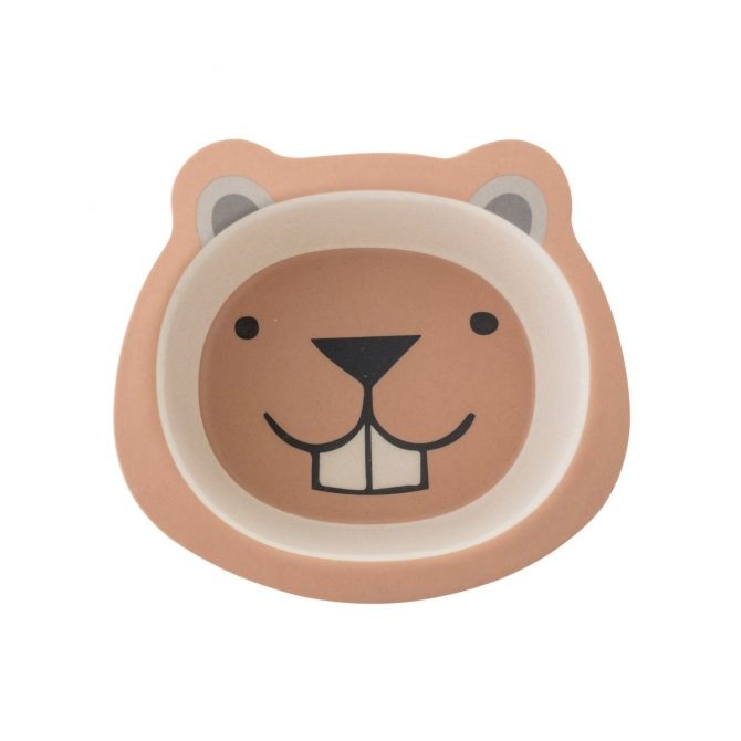 Bowl Bamboo Bear beige - Bloomingville